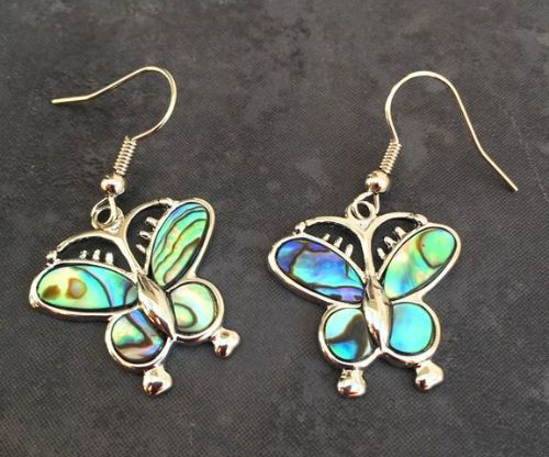 Paua Butterfly Earrings PE03-BF
